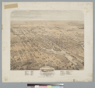 Bird's-eye view of the city of Stockton, San Joaquin County, California, 1870