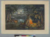 The trapper's camp-fire