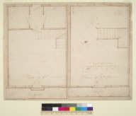 [Floor plans of upper and lower stories of Trinidad City House, Humboldt County, California]
