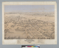 Bird's-eye view of Woodland, Yolo Co[unty], Cal[ifornia] 1871