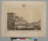 View of the procession in celebration of the Admission of California, Oct[ober] 29th, 1850