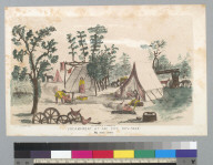 Encampment at Sac[ramento] City [California], Nov[ember] 1849: my own tent