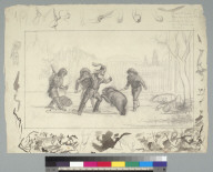 [Bear fight scene with Grizzly (John Capen) Adams]