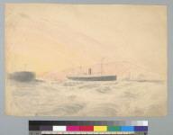 [Sidewheel steamship entering the Golden Gate?, San Francisco, California]
