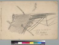[Charles J. Hittell's sketchbook cover: Squaw Rock, Red Cloud, San Francisco harbor, California]