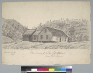 Residence of Mr. Spottswood near Eel River: Mendocino Co[unty], Cal[ifornia]