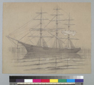 [Three-masted sailing vessel, probably a steel-hulled clipper]