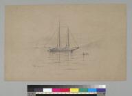 [Sailboat at anchor in San Francisco Bay, California]