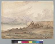 [Indian encampment along Puget Sound, Washington?]