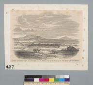 Mormon settlement in the San Bernardino Valley, with a view of the peaks of San Bernardino and San Gorgonio [California]