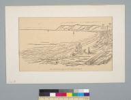 Pen sketch of Point Loma [California] from the beach