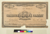 [Combined Comstock Company certificate]
