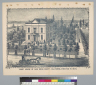 Court House of San Diego County, California, erected in 1872