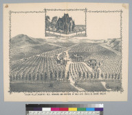 """Cajon Villa,"" country res[idence], orchard and vineyard of Maj[or] Levy Chase, El Cajon Valley [San Diego County, California]"