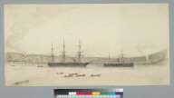 [Military vessels in Bellingam Bay, Washington?]