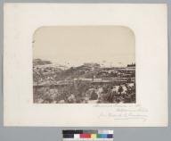 """""""Almacenes Fiscales in 1861. Valparaiso, Chile, from Cerro de la Concepcion."""" [photographic print]"""