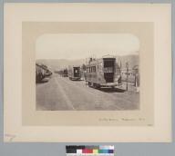 """Double deckers [horse railroads], Valparaiso, Chile, 1867."" [photographic print]"