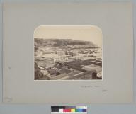 """Valparaiso, Chile, 1861,"" bird's-eye view with harbor. [photographic print]"