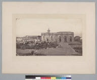 Plaza de Armas and Cathedral, Santiago. [photographic print]