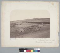 """Dwellings of the workmen, nitrate mines 1863, Pampa de Tamarugal,"" Peru. [photographic print]"