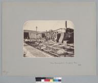 """Nitrate Manufacture, Tarapaca, Peru, 1863,"" with laborers. [photographic print]"