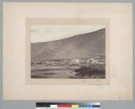 """""""Pisagua, Peru, Nitrate of Soda port in 1863."""" [photographic print]"""