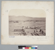 """""""Building new nitrate works in 1863, near Iquique, Peru [photographic print]"""