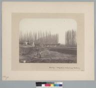 """Bridge, Valparaiso & Santiago Railway, 1867,"" over el Mapocho, Chile. [photographic print]"