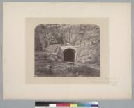 """First tunnel, Ferrocarril [railroad] de Valparaiso a Santiago, Chile.""[photographic print]"