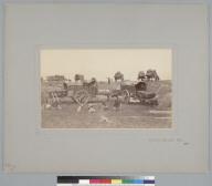 """Corral de Carretas, Chile, 1865,"" carts and peasants. [photographic print]"