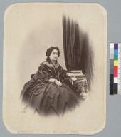"""Mrs. Ginder, 1863,"" studio portrait. [photographic print]"