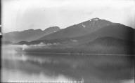 """Douglas Island Mountain with fog banks,"" Alaska. [negative]"