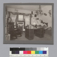 """Delta Upsilon House [fraternity] room, ca. 1900,"" University of California at Berkeley. [photographic print]"