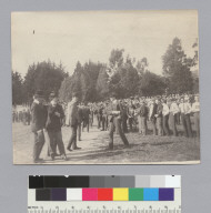 """C.U. brawl, May 1900,"" University of California at Berkeley. [photographic print]"