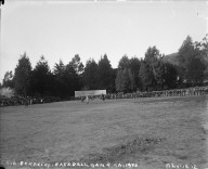 """C.U. Berkeley baseball game, ca. 1900,"" University of California at Berkeley. [negative]"