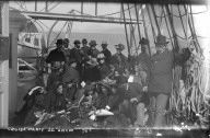 """""""Cruise party, S.S. Ancon,"""" at Safety Cove. [negative]"""