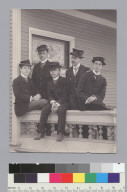 """C.U. Delta Upsilon seniors, 1899,"" University of California at Berkeley. [photographic print]"