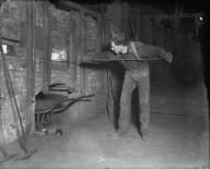 Man working at mine smelter? [negative]