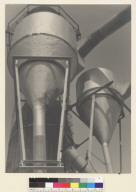 Factory Funnels. [photographic print]