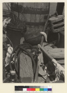 On Varda's Boat, the aft - deck. Ships gear, Varda's boat deck, Sausalito. [photographic print]