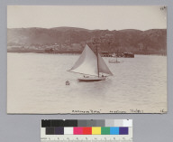 Aeolus (yacht) off Martinez. [photographic print]