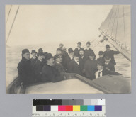 Old officers of San Francisco Yacht Club on deck of boat. [photographic print]