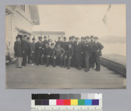 Old officers of San Francisco Yacht Club, Sausalito. [photographic print]