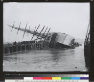 Majestic (ship) hove down-bottom up, San Francisco. [photographic print]