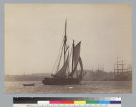 Big River (schooner) transporting lumber, off San Francisco waterfront. [photographic print]