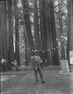 Man with large mustache, Bohemian Grove. [negative]