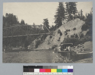 Men swimming at water hole, [photographic print]