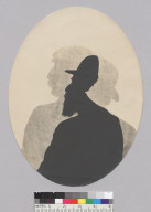 Superimposed, bust length silhouettes of two men, Bohemian Grove. [photographic print]
