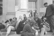 Students fasting on Sproul Steps during the Free Speech Movement.