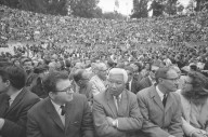 Crowd at the Greek Theater for the Special Convocation.